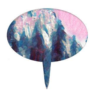 Yosemite in Pink Cake Topper