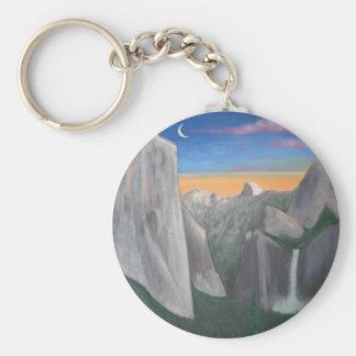 Yosemite Basic Round Button Keychain