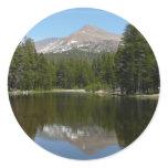 Yosemite Lake Reflection Classic Round Sticker