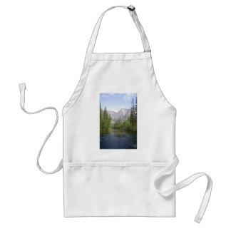 Yosemite landscape with waterfall apron