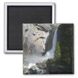 Yosemite Lower Falls 2 Inch Square Magnet