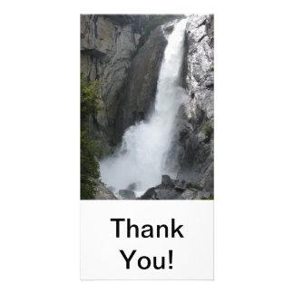 Yosemite Lower Falls Custom Photo Card