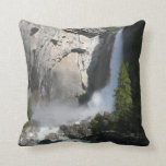 Yosemite Lower Falls from Yosemite National Park Throw Pillow