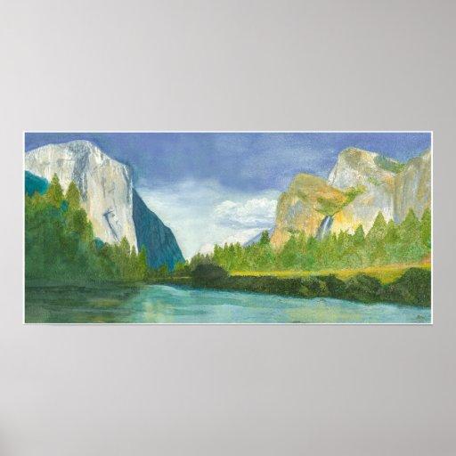Yosemite magnífico póster