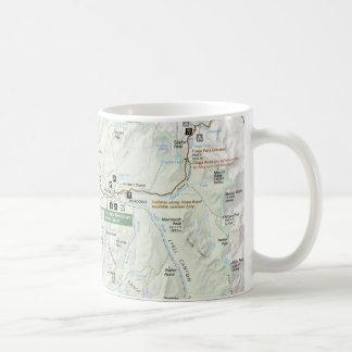 Yosemite map mug