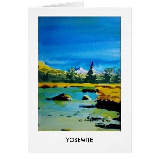 Yosemite National Park #2 Card