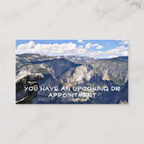 Yosemite National Park Appointment Reminder Card