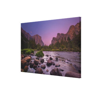 Yosemite National Park at Dusk Gallery Wrapped Canvas