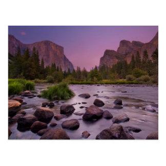Yosemite National Park at Dusk Postcard
