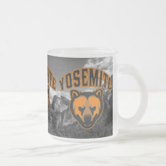 Yosemite National Park Bear Face Logo Frosted Glass Coffee Mug