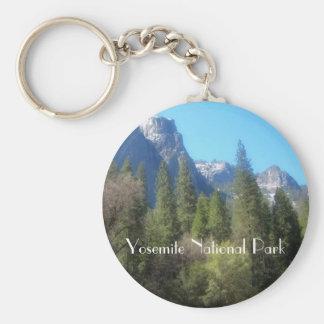 Yosemite National Park (C) Basic Round Button Keychain