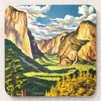 Yosemite National Park California Travel Art Beverage Coaster