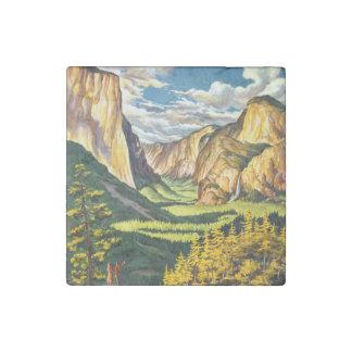 Yosemite National Park California Travel Art Stone Magnet