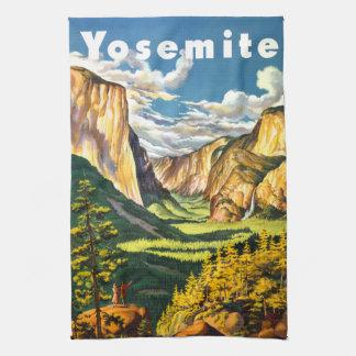 Yosemite National Park California Travel Art Hand Towel
