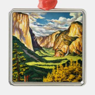 Yosemite National Park California Travel Art Metal Ornament
