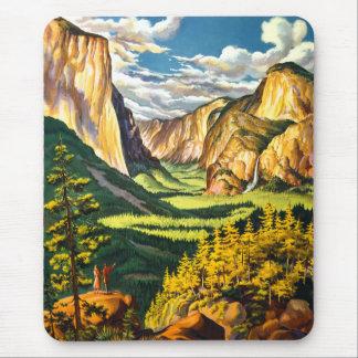 Yosemite National Park California Travel Art Mouse Pad