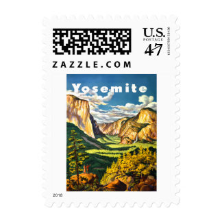 Yosemite National Park California Travel Art Postage
