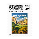 Yosemite National Park California Travel Art Postage Stamps