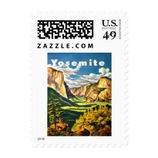 Yosemite National Park California Travel Art Postage Stamps