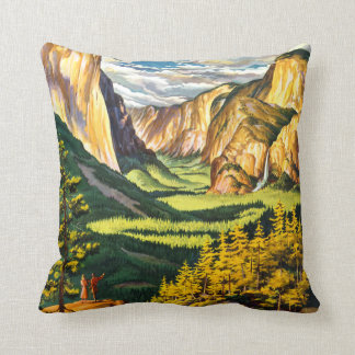 Yosemite National Park California Travel Art Throw Pillow