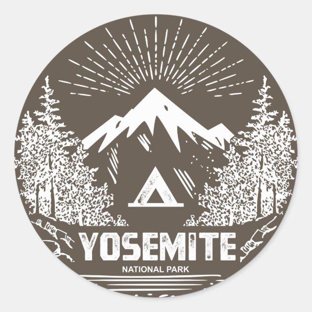 "YOSEMITE NATIONAL PARK I CLIMBED HALF DOME OVAL  5/"" USA MADE STICKER DECAL"