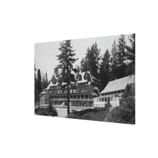 Yosemite National Park Glacier Point Lodge Stretched Canvas Prints
