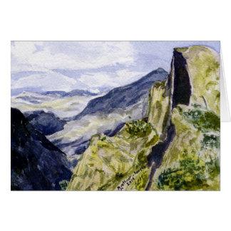 Yosemite National Park, Glacier Point Overlook #1 Card