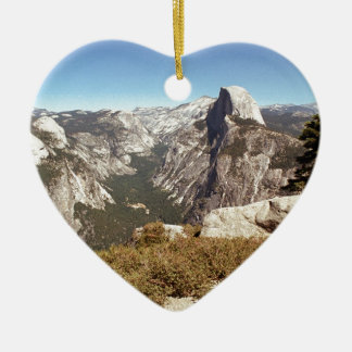 Yosemite National Park, Half Dome Mountain, USA Ceramic Ornament