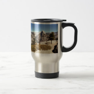 Yosemite National Park, Half Dome Mountain, USA Travel Mug