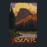 "Yosemite National Park - Half Dome Travel Poster<br><div class=""desc"">Here is one of our Vintage-Style Travel Posters.  All designs are custom made to resemble posters of the early 1900&#39;s.  These pieces of artwork carry high detail,  deep color,  and our careful attention to quality.</div>"