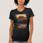 Yosemite National Park - Half Dome Travel Poster Tee Shirt