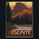 """Yosemite National Park - Half Dome - Vintage Postcard<br><div class=""""desc"""">Here is one of our Vintage-Style Travel Posters. All designs are custom made to resemble posters of the early 1900&#39;s. These pieces of artwork carry high detail,  deep color,  and our careful attention to quality.</div>"""