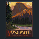"Yosemite National Park - Half Dome - Vintage Postcard<br><div class=""desc"">Here is one of our Vintage-Style Travel Posters. All designs are custom made to resemble posters of the early 1900&#39;s. These pieces of artwork carry high detail,  deep color,  and our careful attention to quality.</div>"