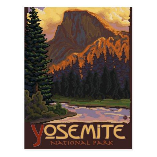 Yosemite National Park Vacations: Yosemite National Park - Half Dome - Vintage Postcard