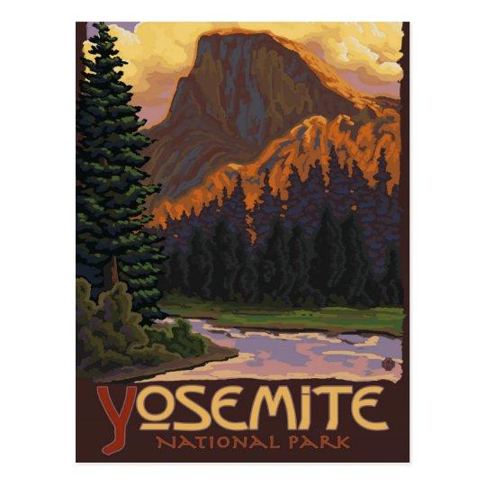 Yosemite National Park Half Dome Vintage Postcard