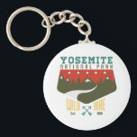 "Yosemite National Park Keychain<br><div class=""desc"">Yosemite National Park,  California National Parks t shirts and gifts,  hand-created digital art,  graphic art,  and illustrations of nature,  scenic landmarks and points of interest of USA.</div>"