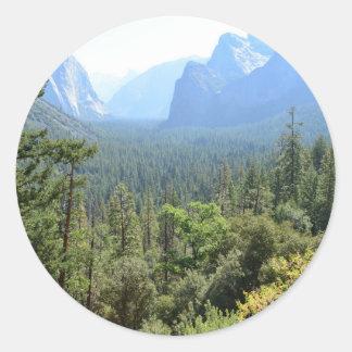 Yosemite National Park landscape photography. Classic Round Sticker