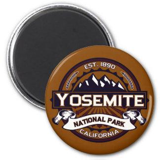 Yosemite National Park Logo 2 Inch Round Magnet