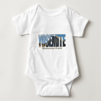 Yosemite National Park Text with Half Dome Baby Bodysuit