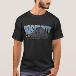 Yosemite National Park Text with Half Dome T-Shirt