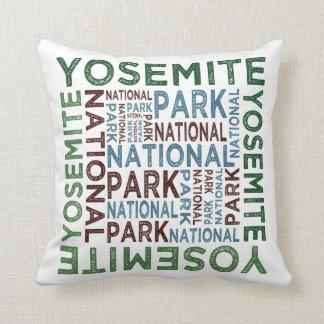 Yosemite National Park Throw Pillow