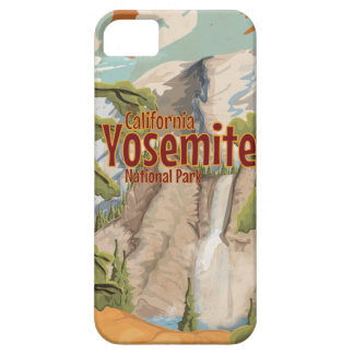 Yosemite National Park Travel Poster iPhone 5 Covers