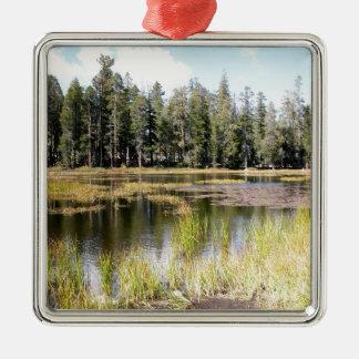 Yosemite National Park Tuolumne Meadows Square Metal Christmas Ornament