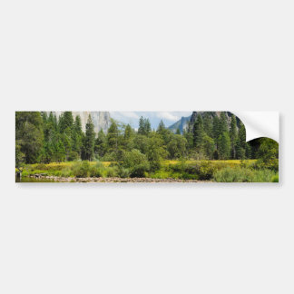 Yosemite National Park Valley View Car Bumper Sticker