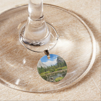 Yosemite National Park Valley View Wine Charms