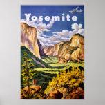Yosemite National Park Vintage Poster
