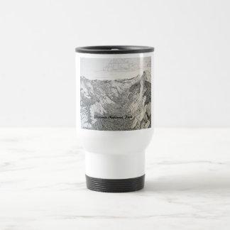Yosemite National Park (white coffee mug drawing) Mugs