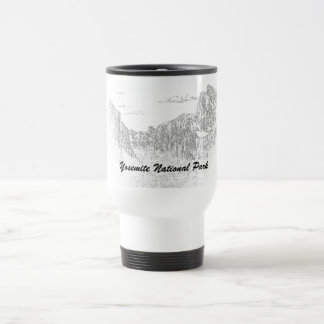 Yosemite National Park (white travel mug sketch)