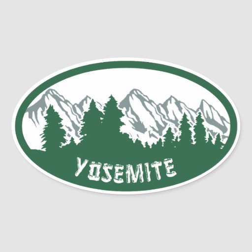 Yosemite Natl Park Oval Stickers