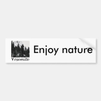 Yosemite No. 1 Black and White Bumper Sticker